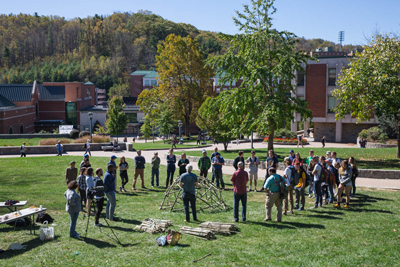 Geodesic Domes at Appalachian State - Courtesy of Ellen Burnette
