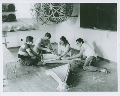 Buckminster Fuller Architecture Class - Courtesy of Western Regional Archives