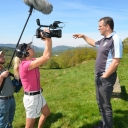 Director Tom Hansell and cinematographer Suzanne Clouzeau interview entrepreneur Geraint Lewis in the Dulais Valley of South Wales.