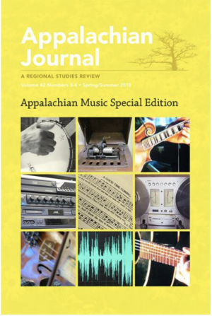 Cover image of the Appalachian Journal, its first special edition on Appalachian music.